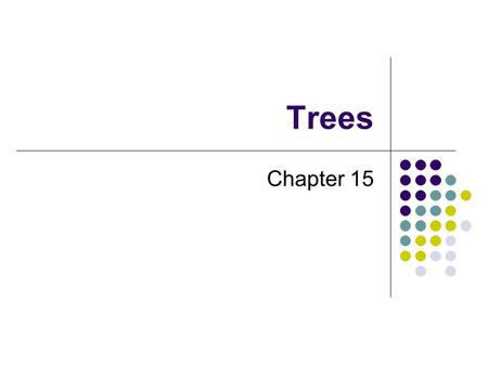 Trees Chapter 15. 2 Chapter Contents Tree Concepts Hierarchical Organizations Tree Terminology Traversals of a Tree Traversals of a Binary Tree Traversals.