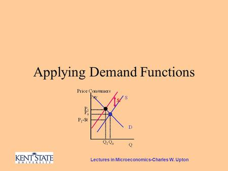 Lectures in Microeconomics-Charles W. Upton Applying Demand Functions.
