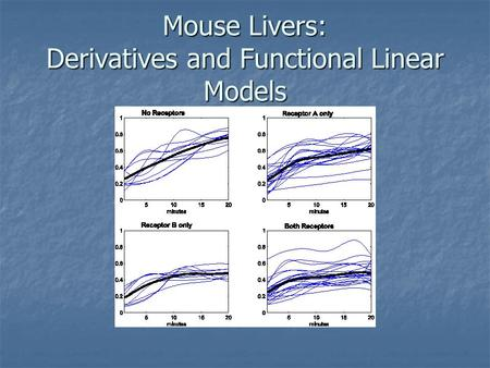 Mouse Livers: Derivatives and Functional Linear Models.