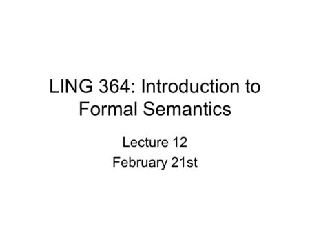 linguistic semantics an introduction pdf