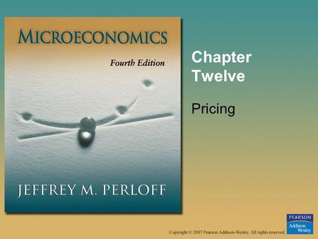 Chapter Twelve Pricing.