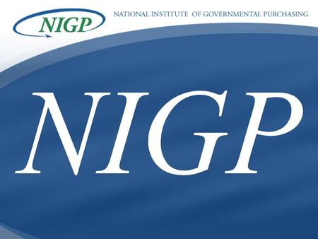 BUILDING PROFESSIONAL BRIDGES SPANNING THE FUTURE NIGP.