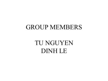 GROUP MEMBERS TU NGUYEN DINH LE. 4 bit Parallel input to serial output (4bit_PISO) shift REG.