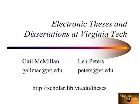 virginia tech dissertations