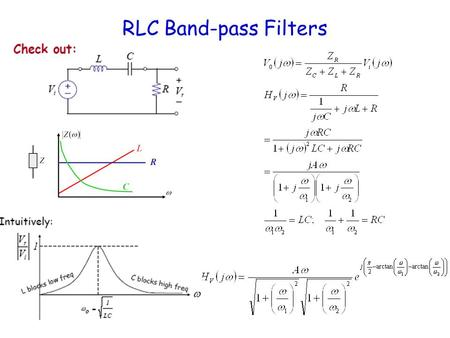 RLC Band-pass Filters.