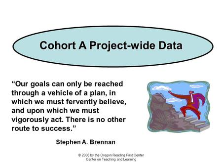 "Cohort A Project-wide Data ""Our goals can only be reached through a vehicle of a plan, in which we must fervently believe, and upon which we must vigorously."