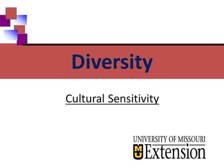 Cultural Sensitivity Diversity. Family Medical Leave Act How are people different? Race Ethnicity Gender Religion National Origin Diversity Lifestyle.
