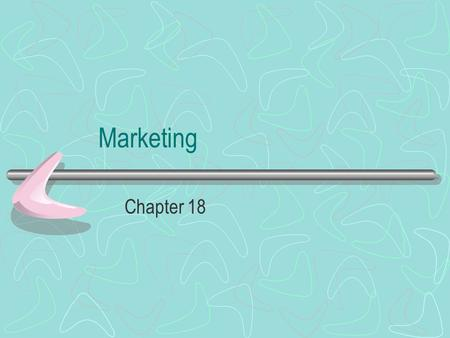 Marketing Chapter 18. Value of Marketing Until recently, marketing was not recognized as a valuable function in noncommercial settings Foodservice facilities.
