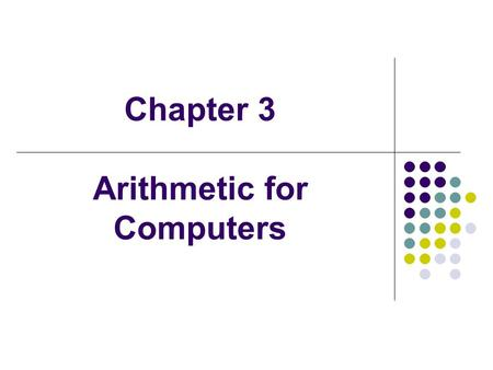 Chapter 3 Arithmetic for Computers. Multiplication More complicated than addition accomplished via shifting and addition More time and more area Let's.