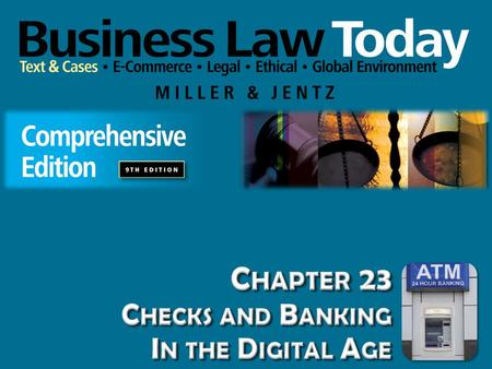 Chapter 23 Checks and Banking In the Digital Age