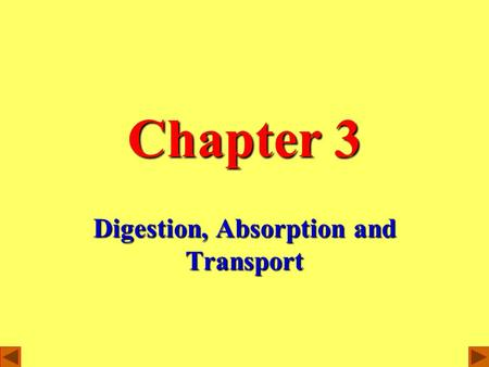 Chapter 3 Digestion, Absorption and Transport. The process of digestion transforms all kinds of foods into nutrients.