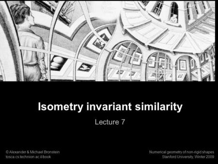 Isometry invariant similarity