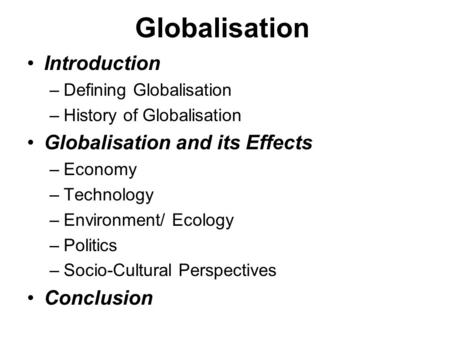an introduction to the history of globalisation A secondary school revision resource for gcse geography on the impact of globalisation.