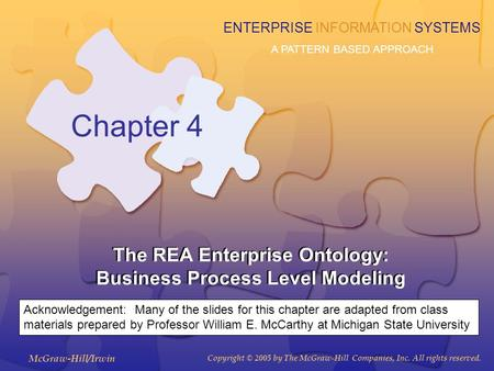 The REA Enterprise Ontology: Business Process Level Modeling