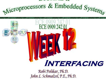 Interfacing. This Week In DIG II  Basic communications terminology  Communications protocols  Microprocessor interfacing: I/O addressing  Port and.