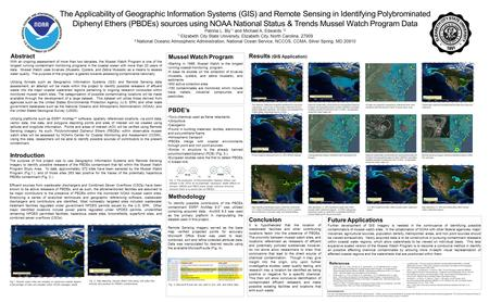 The Applicability of Geographic Information Systems (GIS) and Remote Sensing in Identifying Polybrominated Diphenyl Ethers (PBDEs) sources using NOAA National.
