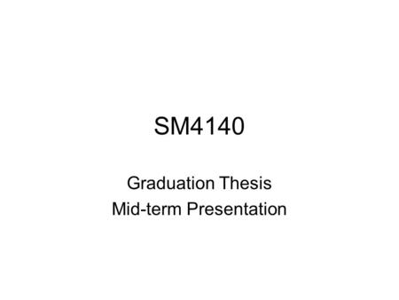 SM4140 Graduation Thesis Mid-term Presentation. Introduction Interactive Video Installation Allowing audience to be an active role in watching a video.