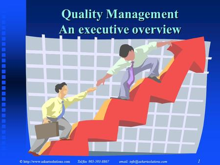 Quality Management An executive overview