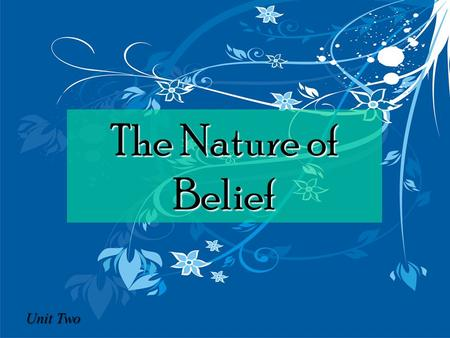 The Nature of Belief Unit Two. Key Areas… Private and public worship Private and public worship Christian prayer and contemplation Christian prayer and.
