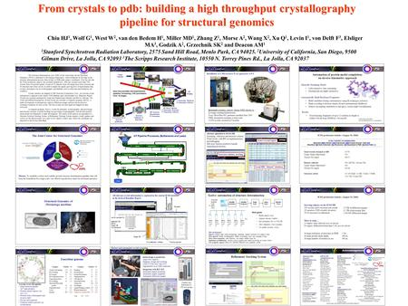 From crystals to pdb: building a high throughput