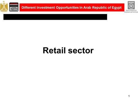 Retail sector 1 Different Investment Opportunities In Arab Republic of Egypt.