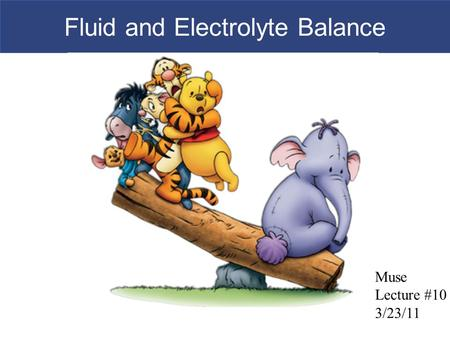 Fluid and Electrolyte Balance Muse Lecture #10 3/23/11.