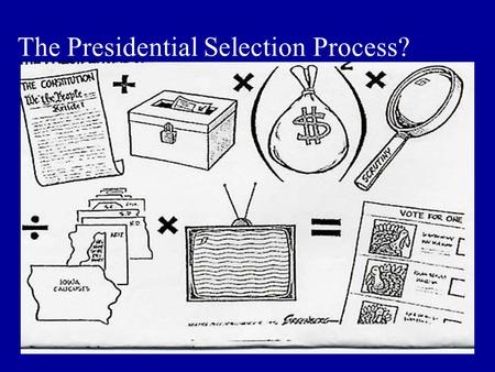 The Presidential Selection Process?. A two-stage process Nomination General Election.