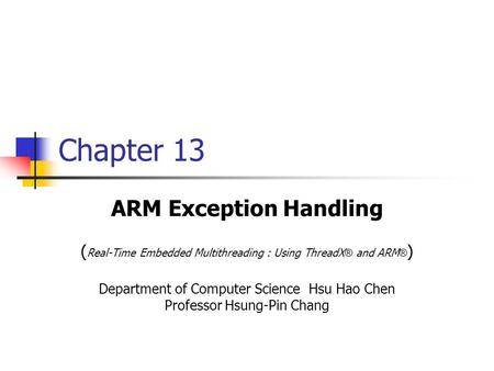 ARM Exception Handling