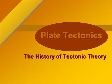 The History of Tectonic Theory Presented by Doug Winans Grade Levels 5-8.
