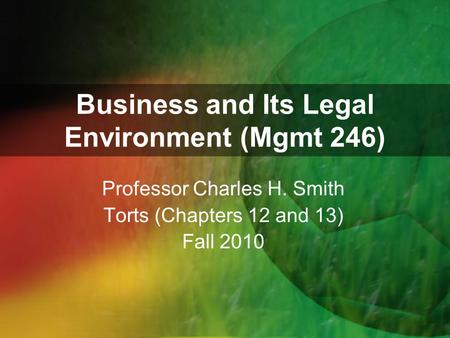 chapter 12 torts Users without a subscription are not able to see the full content please, subscribe or login to access all content.