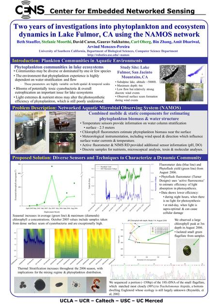 Problem Description: Networked Aquatic Microbial Observing System (NAMOS) Problem Description: Networked Aquatic Microbial Observing System (NAMOS) Proposed.