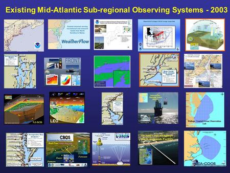 Existing Mid-Atlantic Sub-regional Observing Systems - 2003 LEO.