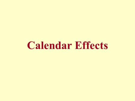 Calendar Effects. Monthly production series are strongly affected by calendar effects. In particular, a close connection between production and the number.