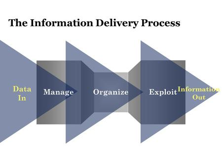 The Information Delivery Process Data In Information Out ManageOrganizeExploit.