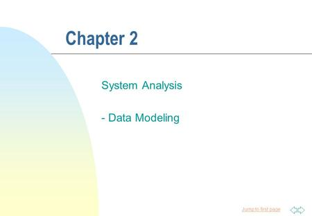 System Analysis - Data Modeling
