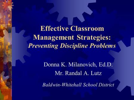 the importance of classroom management