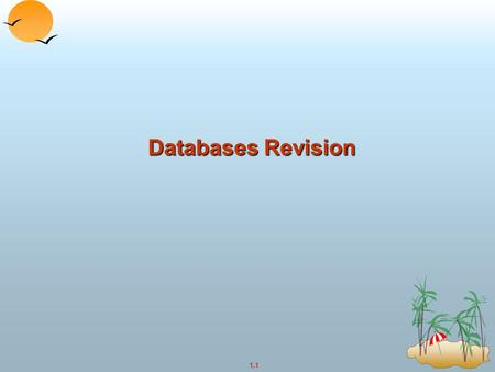 Databases Revision.