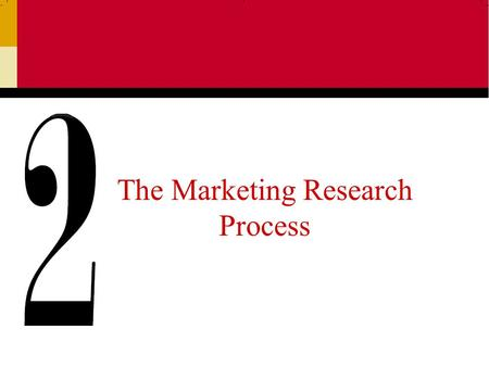 The Marketing Research Process. Ch 22 The Marketing Research Process: 11 Steps Step One:Establishing the Need for Marketing Research Step Two:Defining.