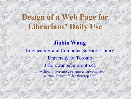 E learning and toledo wilma smeets 16 04 2008 index what for Chair in engineering design university of toronto