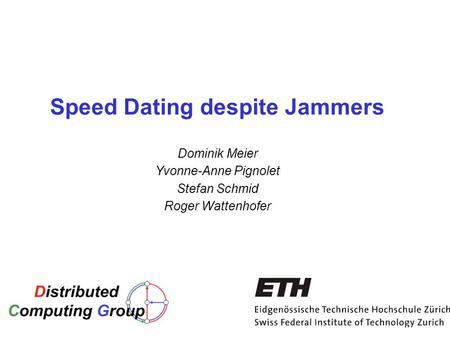 Jd speed dating