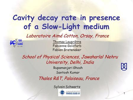 Cavity decay rate in presence of a Slow-Light medium