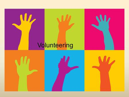 "Volunteering Volunteering? ""No thanks,"" I hear you say, ""I don't really fancy having to sift through jumble in a charity shop."""