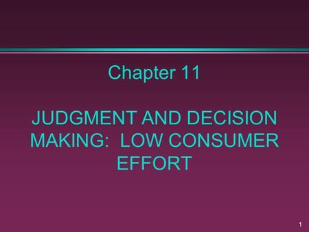judgement and decision making pdf