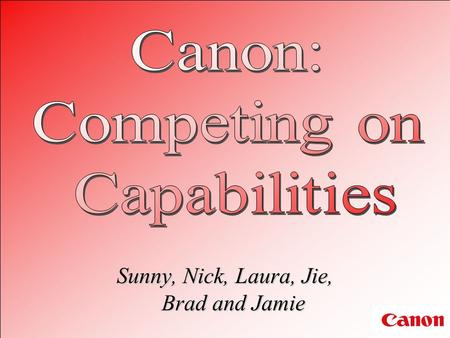 an analysis of canon competing on capabilities