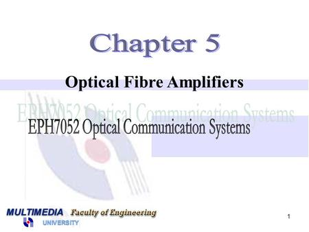 1 Optical Fibre Amplifiers. 2 Introduction to Optical Amplifiers Raman Fibre Amplifier Brillouin Fibre Amplifier Doped Fibre Amplifier.