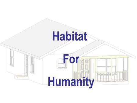 Habitat For Humanity. Dave Russell HFH Members Web / Architectural Team Jimmy Johnson Lisa Major Nick Henthorn Prathima Venkatesan Energy Efficiency Team.