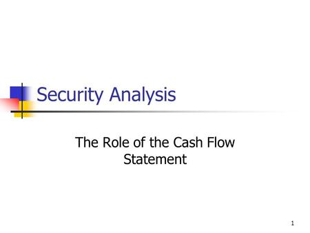 the role of cash flow in Specifies cash flow forecasts to calculate the cash inflows and outflows of your business and to save the values as history for example, you can set up the cash flow forecast for every week or every month.