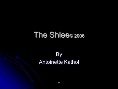 © The Shlee © 2006 By Antoinette Kathol. © Abstract The Shlee © is a synthetic rubber wedge attachment to a snowboard that will act as a slowing device.