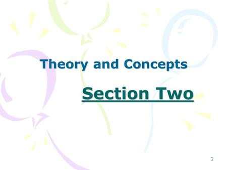 1 Section Two Theory and Concepts. 2 Chapter 4 Social Cognitive Theory.