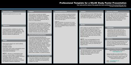 Poster templates by introductions results discussion for Posterpresentations com templates